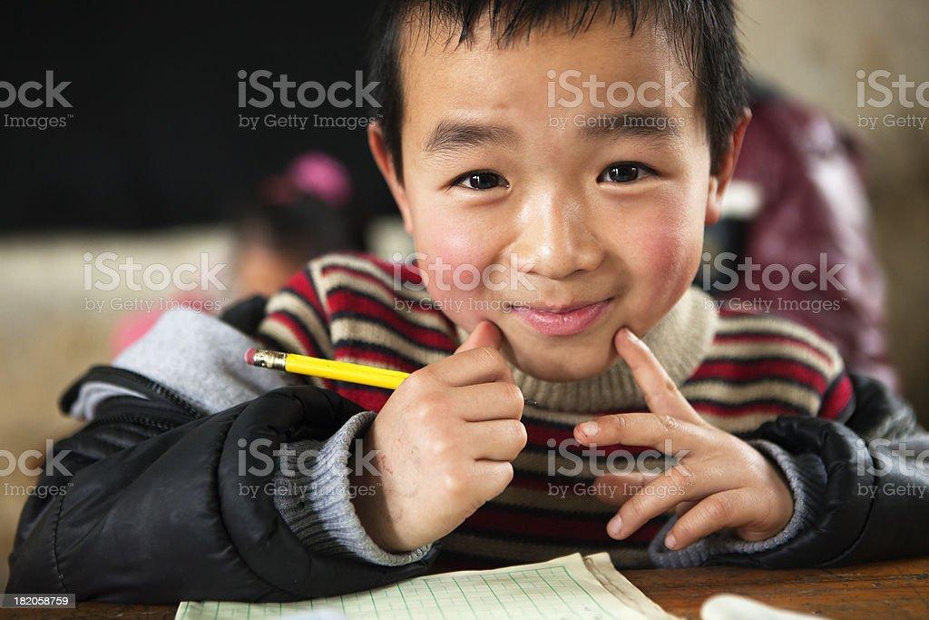 Chinese School Child stock photo