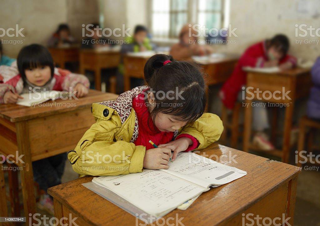 Chinese school children stock photo