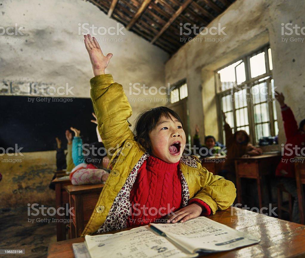 Chinese school children royalty-free stock photo