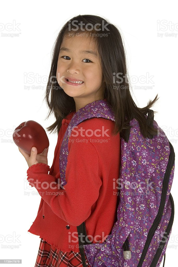 Chinese Schoolgirl royalty-free stock photo