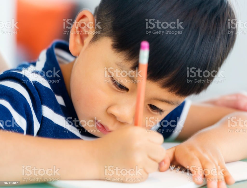 Chinese Schoolwork stock photo