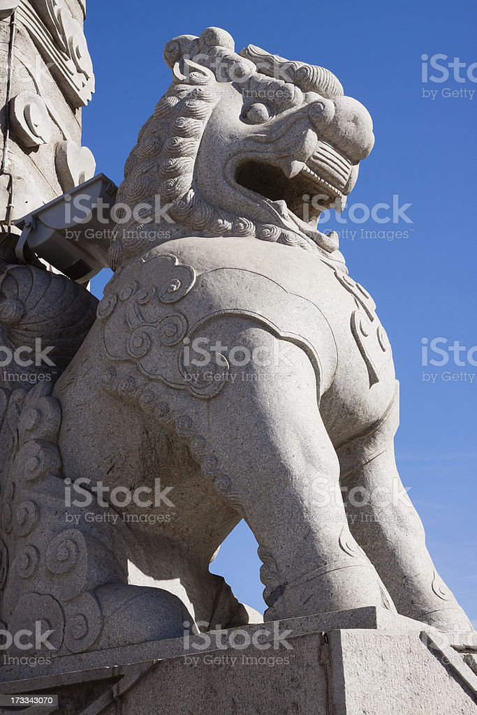 Chinese sculpture lion royalty-free stock photo