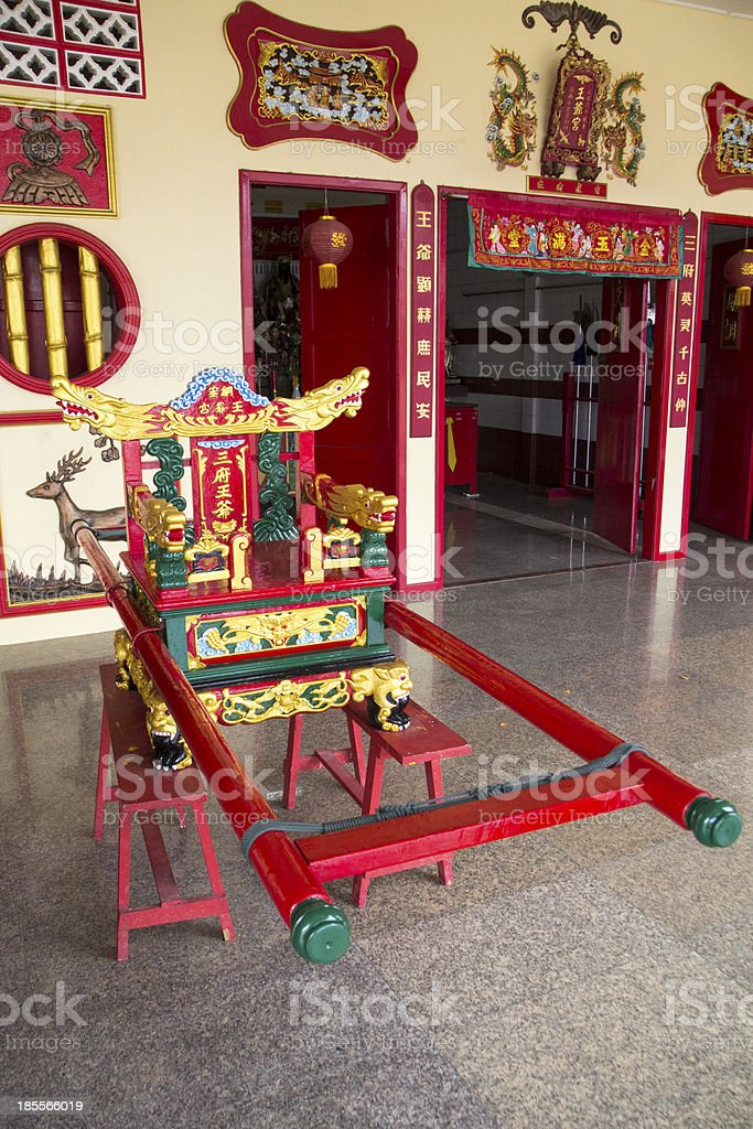 Chinese sedan chair stock photo