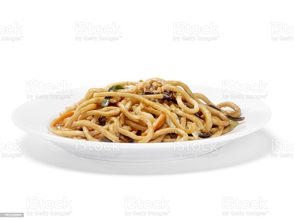Chinese, Shanghai Noodles royalty-free stock photo