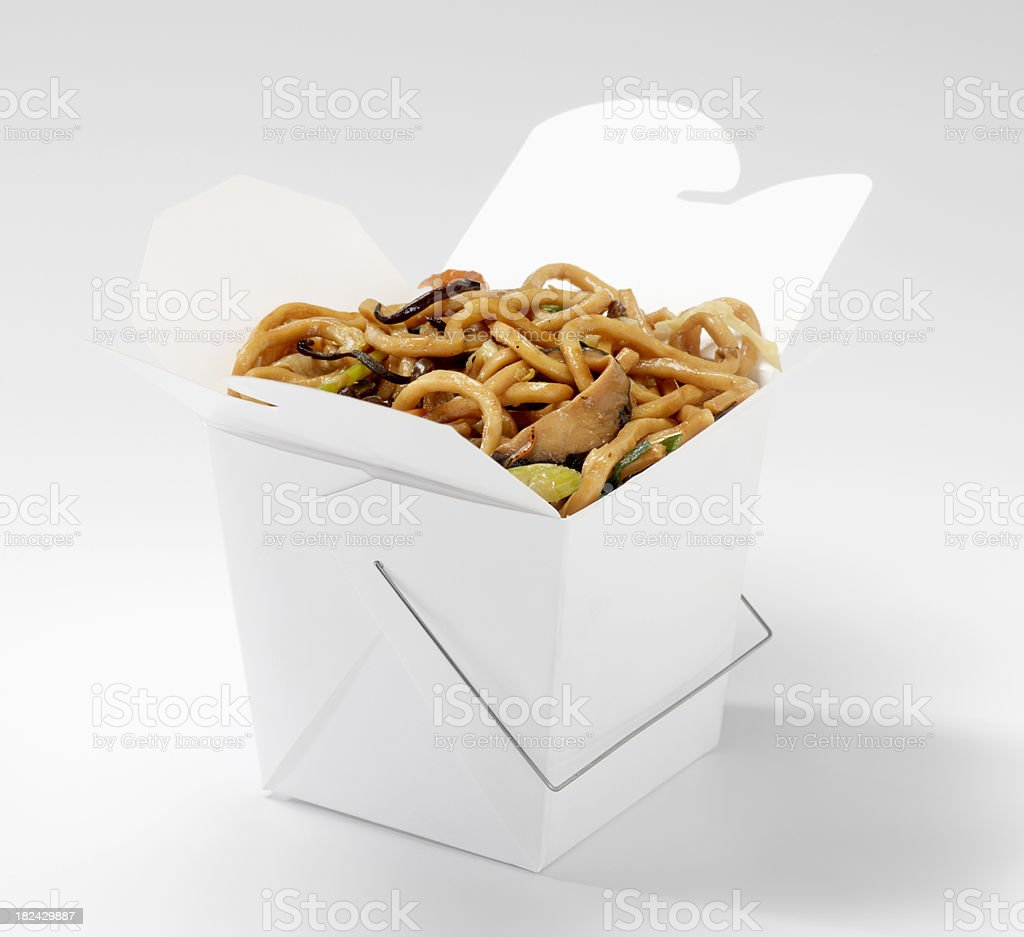 Chinese Shanghai Noodles stock photo