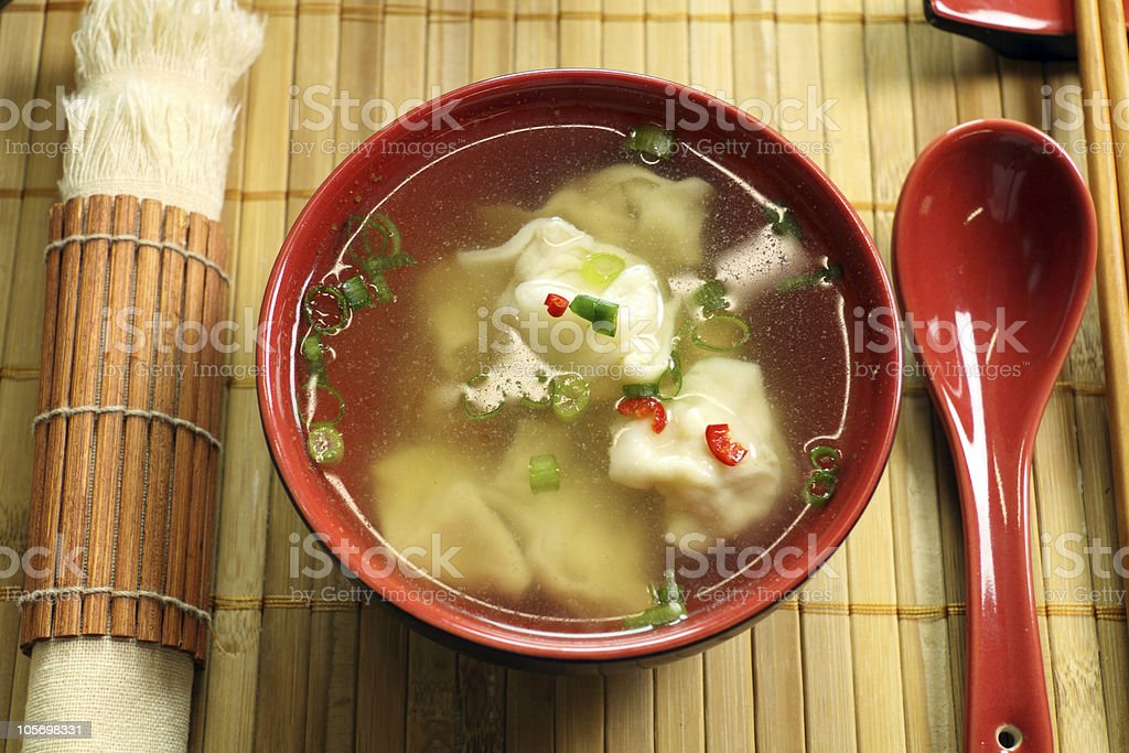Chinese Short Soup royalty-free stock photo