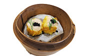 Chinese Shrimp Dumpling topped with Caviar