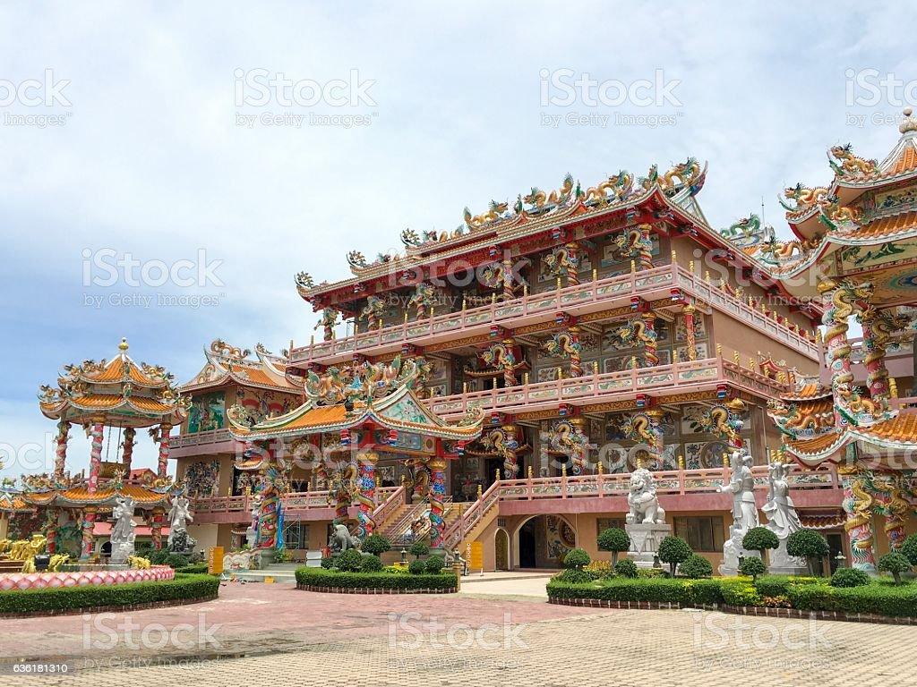 Chinese Shrine in Chonburi, Thailand stock photo