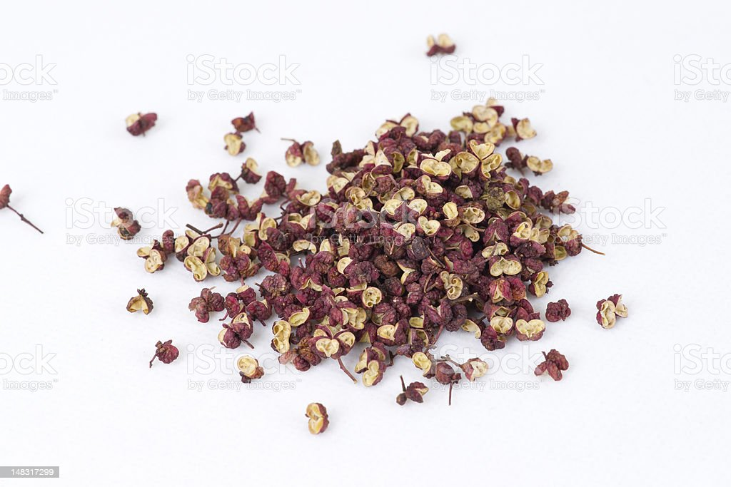 Chinese Sichuan pepper or Prickly Ash Peel(hua jiao) stock photo