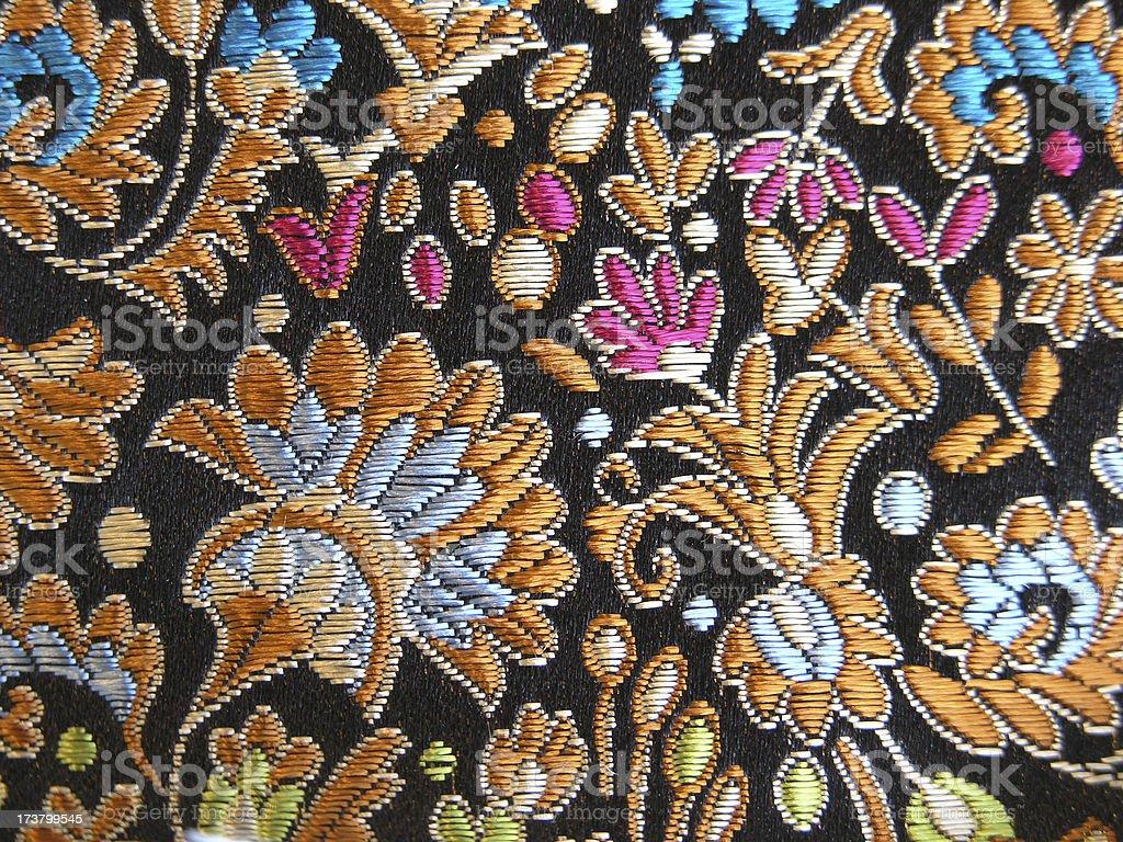 Chinese Silk Brocade royalty-free stock photo
