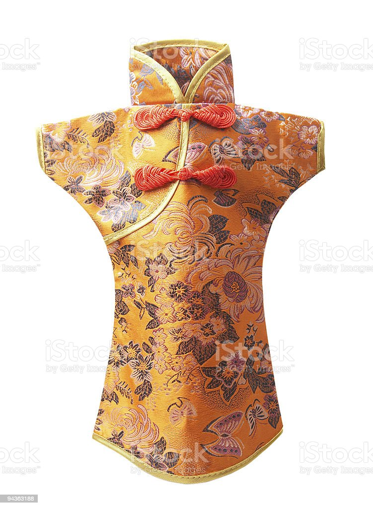chinese silk clothing royalty-free stock photo