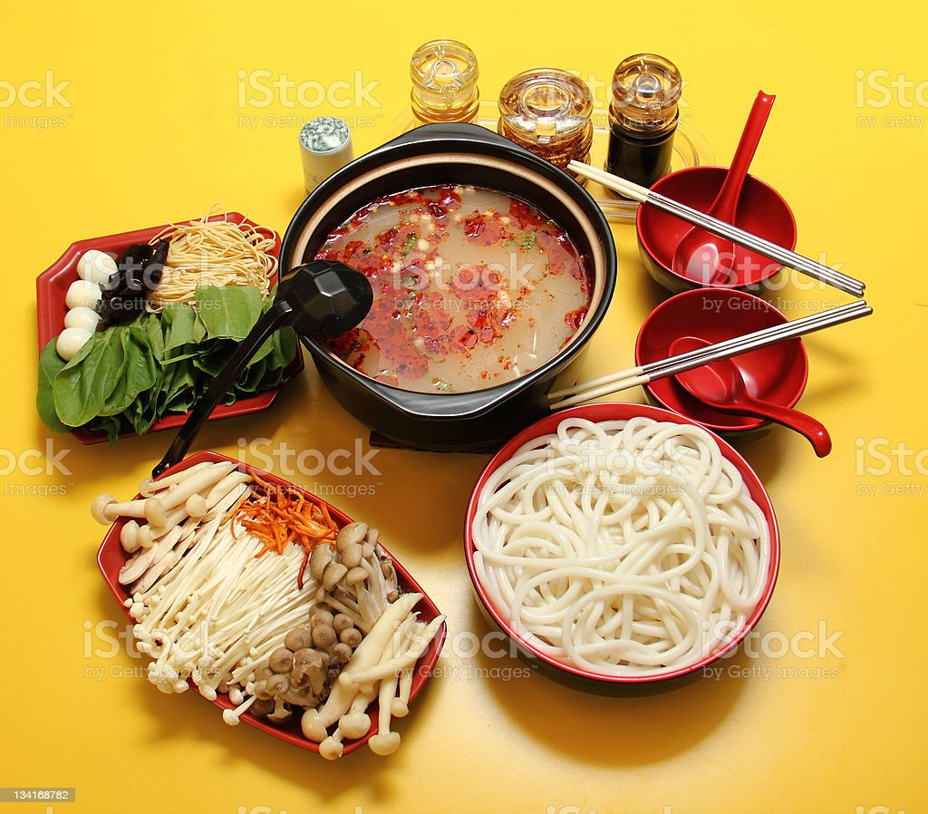 Chinese snacks-Bridge noodle stock photo