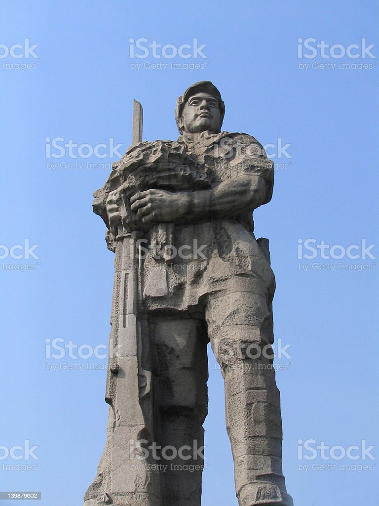 Chinese soldier royalty-free stock photo