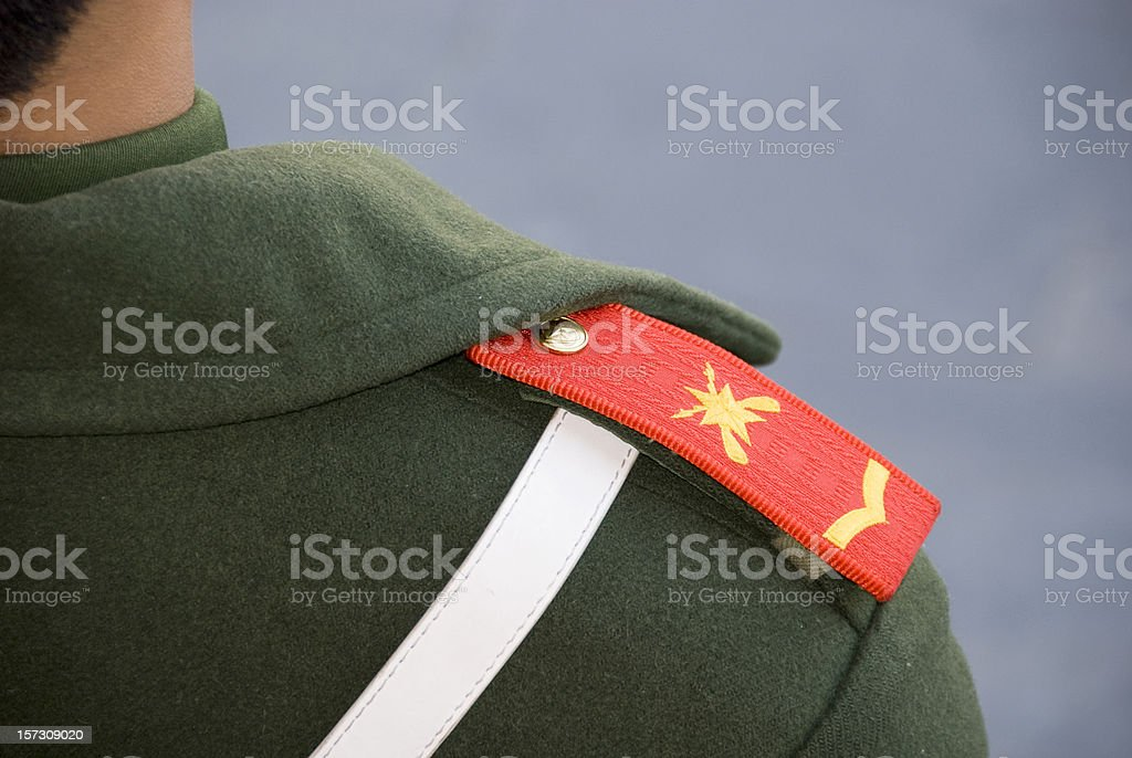 Chinese soldier stock photo