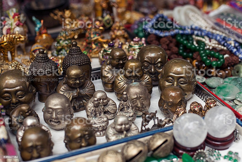 Chinese souvenirs. Various accessories stock photo