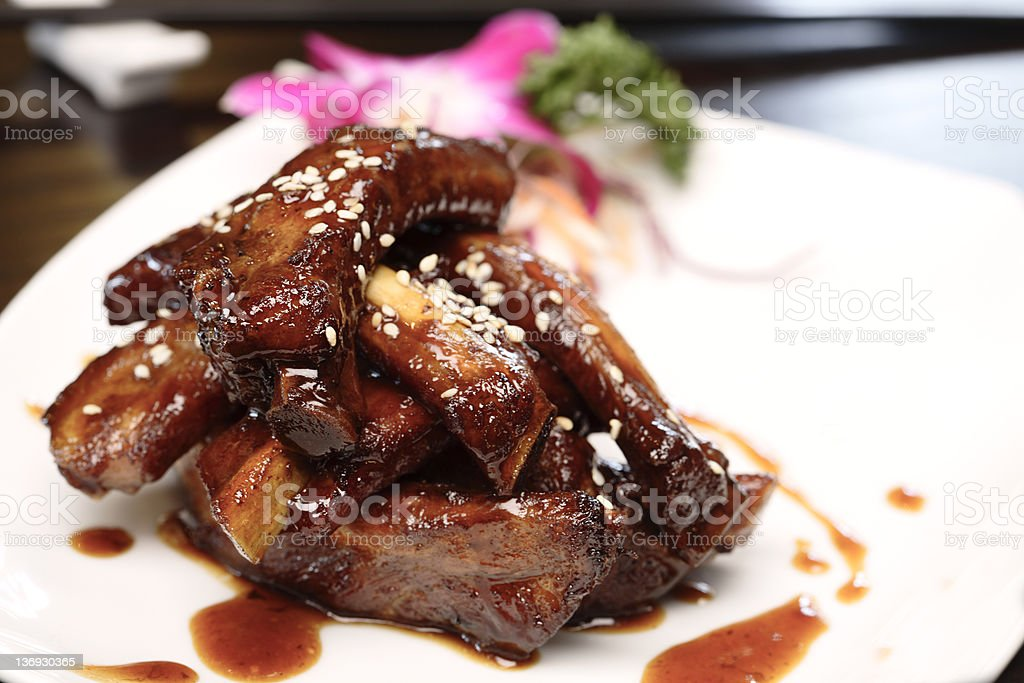 Chinese Spare Ribs royalty-free stock photo