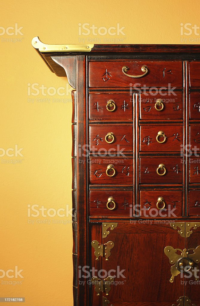 Chinese Spice Cabinet stock photo