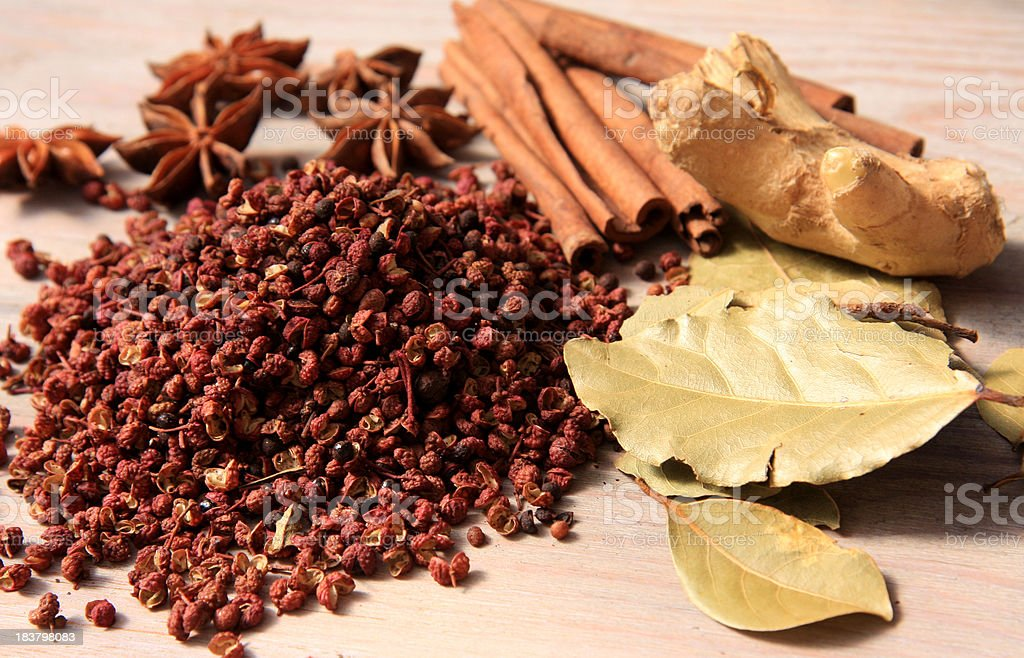 Chinese spices stock photo