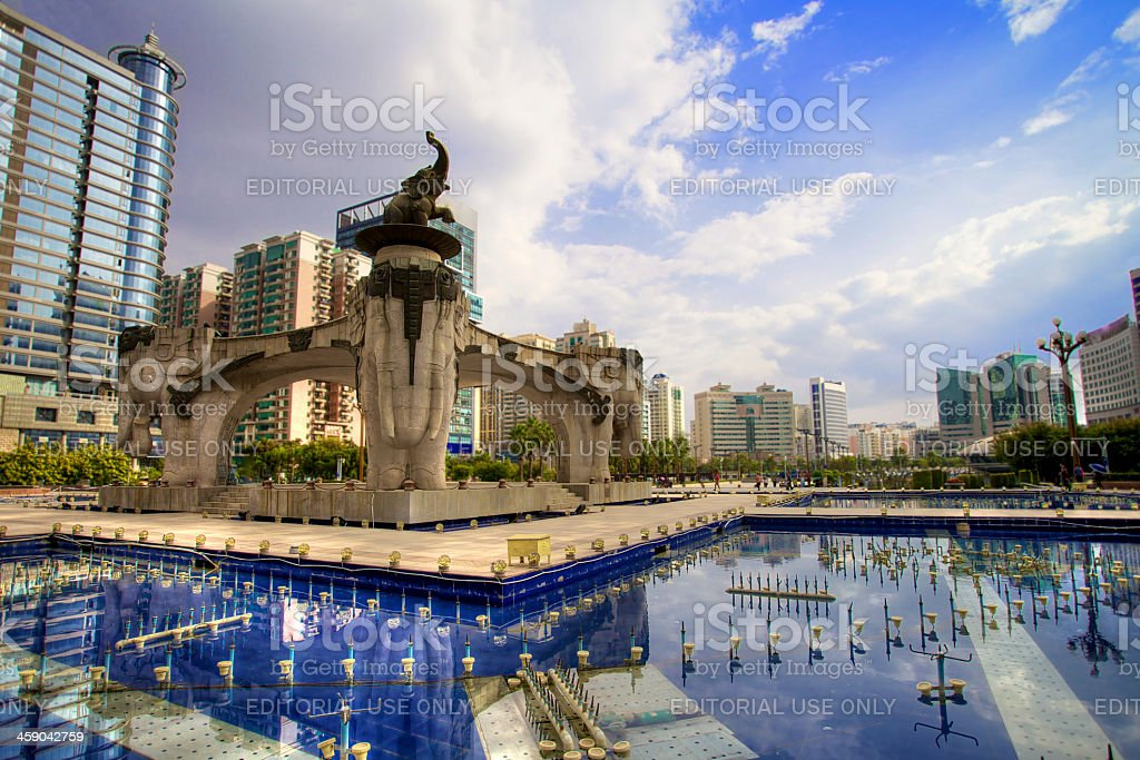 Chinese square stock photo