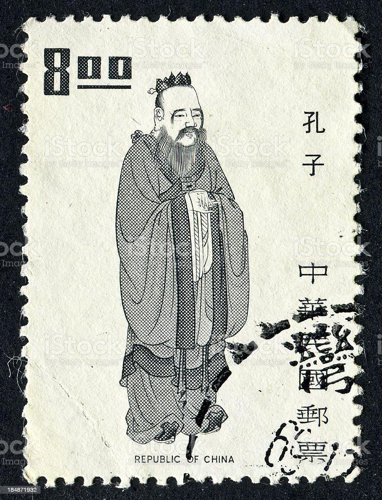 Chinese Stamp stock photo