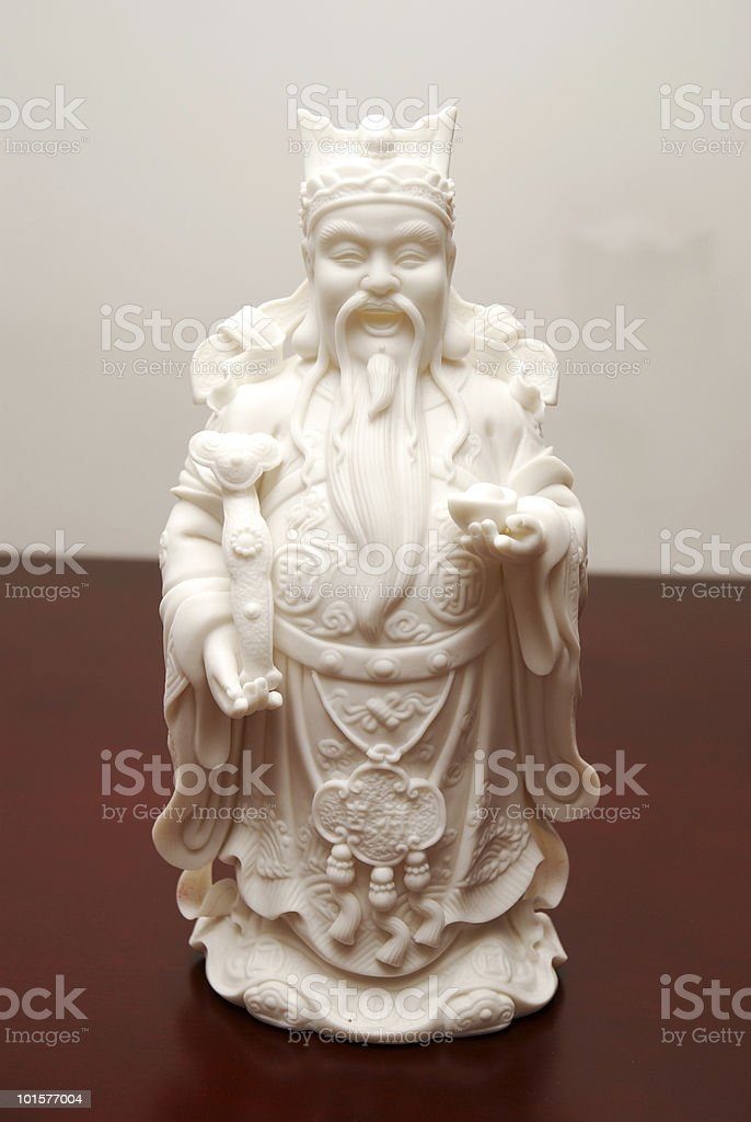 Chinese Statue - The God of Treasure stock photo
