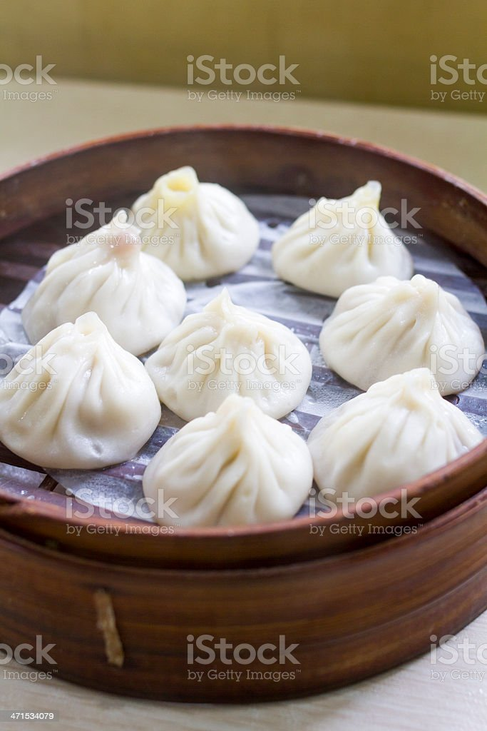 Chinese Steamed Buns royalty-free stock photo