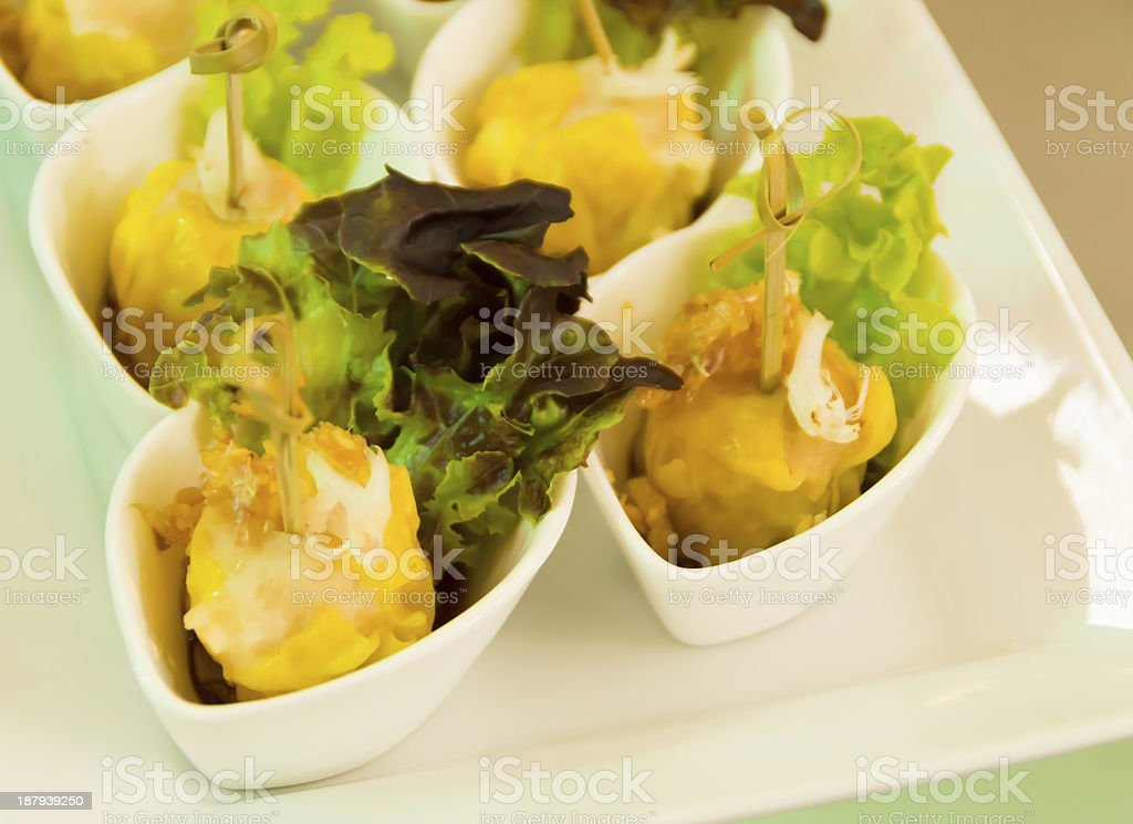 Chinese Steamed Dumpling royalty-free stock photo