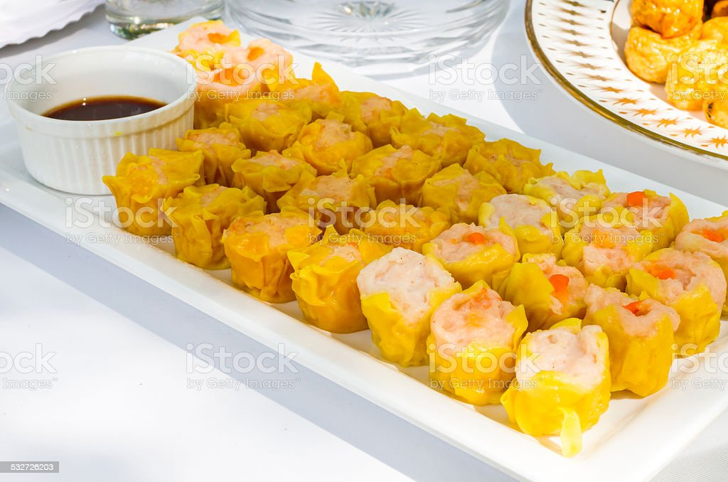 Chinese Steamed Dumpling stock photo