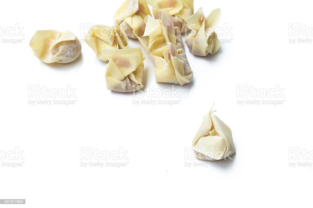 Chinese steamed dumplings. Steamed dumplings isolated stock photo