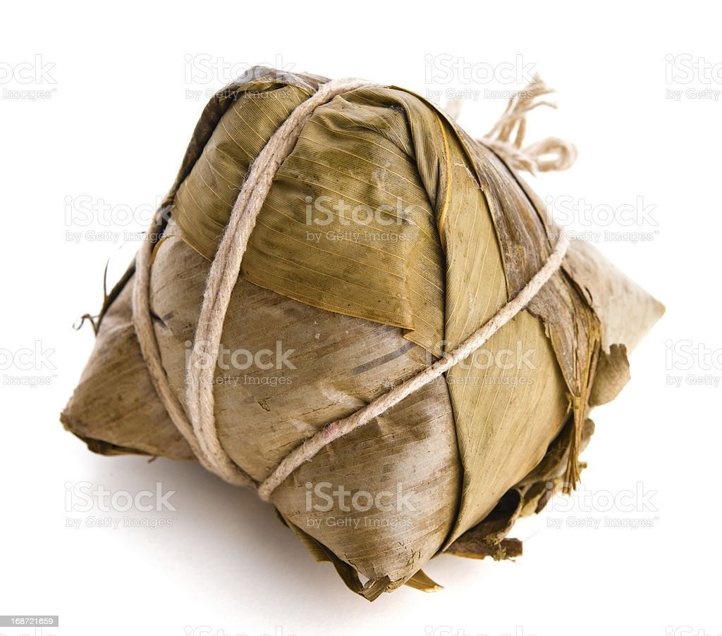 Chinese Sticky Rice Dumpling royalty-free stock photo