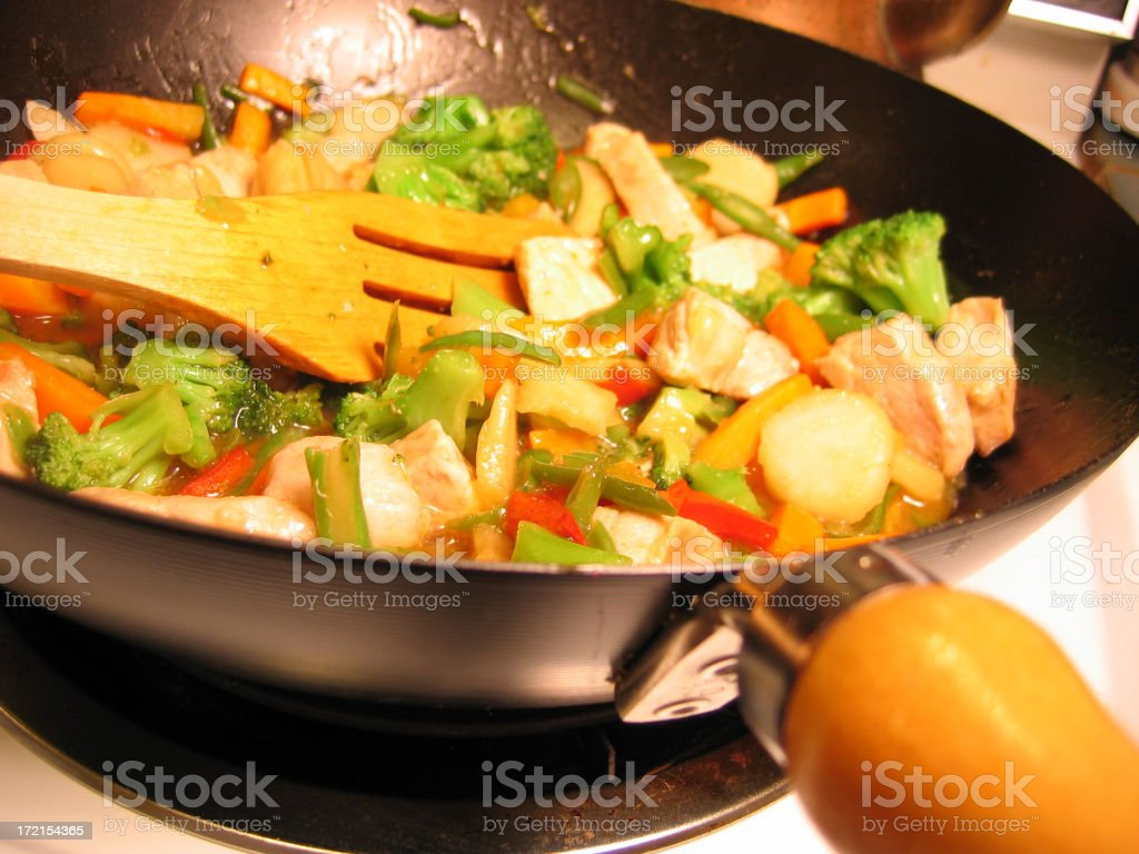 Chinese Stir-Fry Landscape stock photo