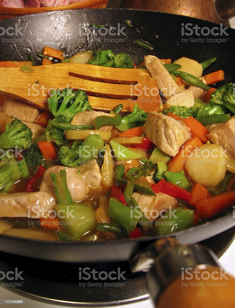 Chinese Stir-Fry royalty-free stock photo