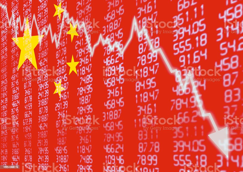 Chinese Stock Market Down stock photo