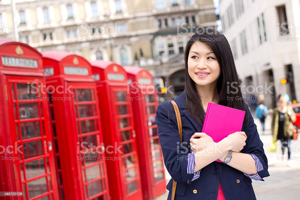 chinese student in london royalty-free stock photo