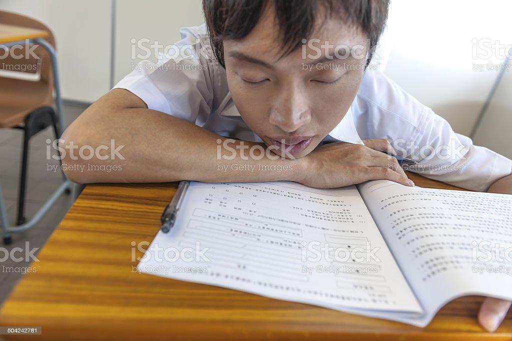 Chinese Students at School, Hong Kong, Asia stock photo