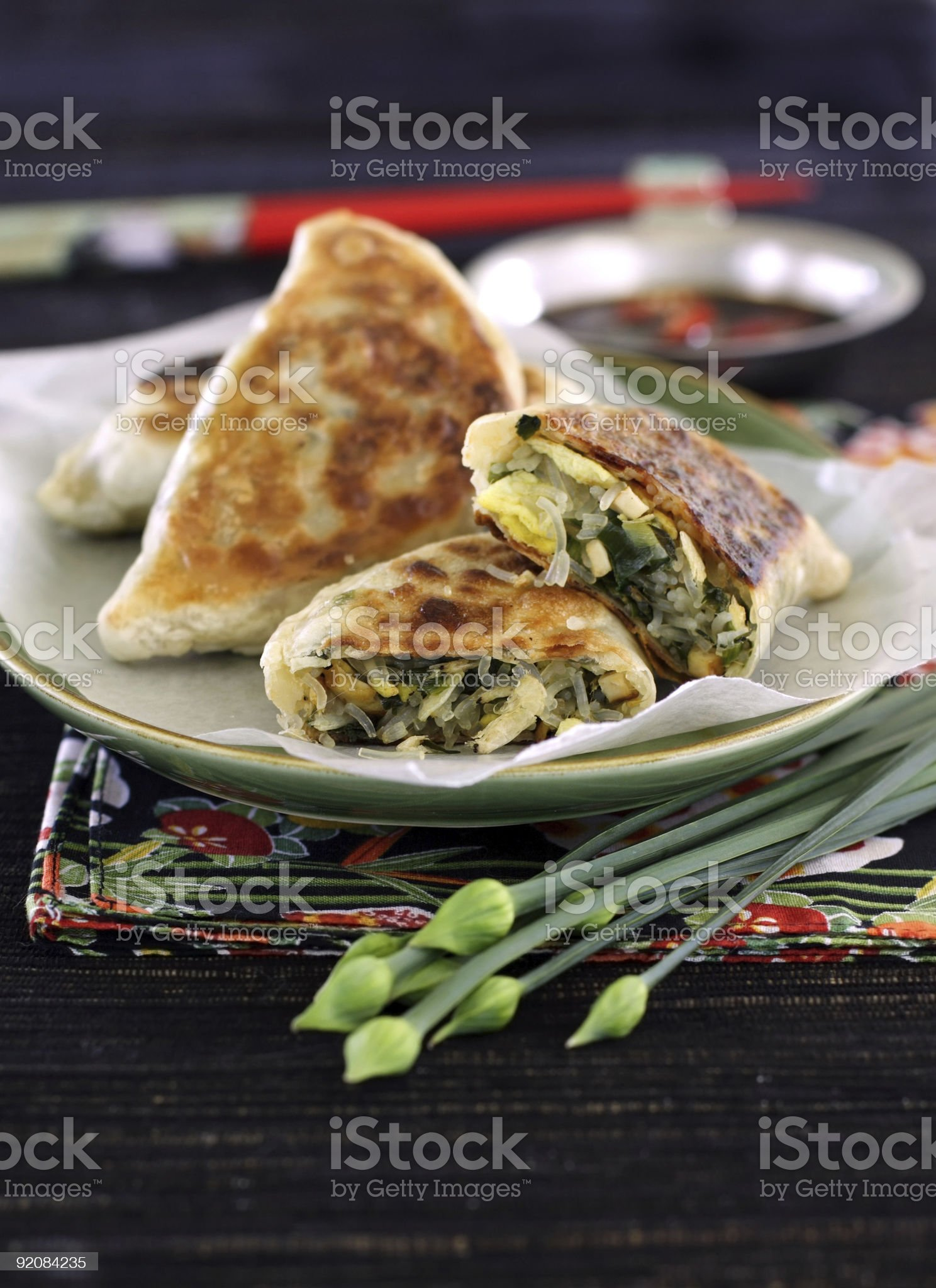 chinese stuffed pastry royalty-free stock photo
