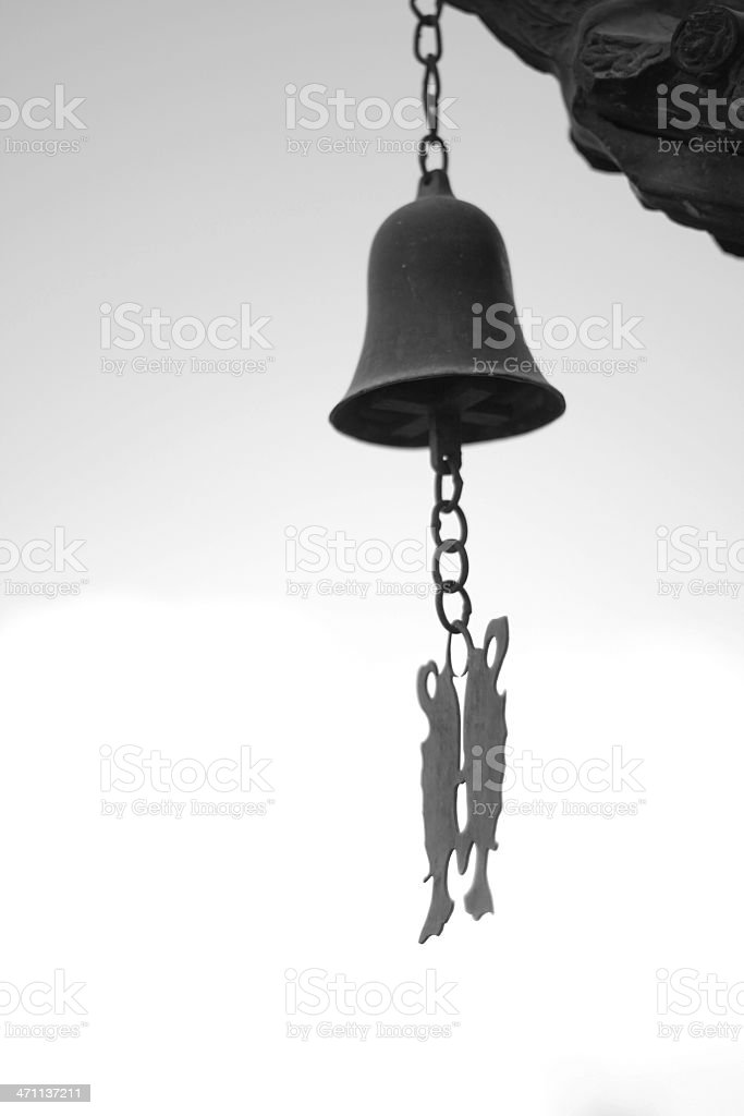 Chinese style bell stock photo