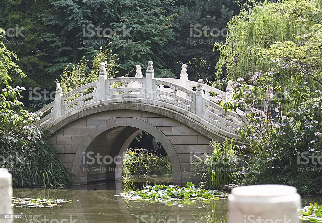 Chinese Style Bridge royalty-free stock photo