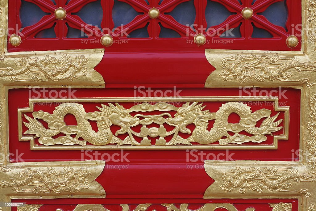 chinese style door royalty-free stock photo