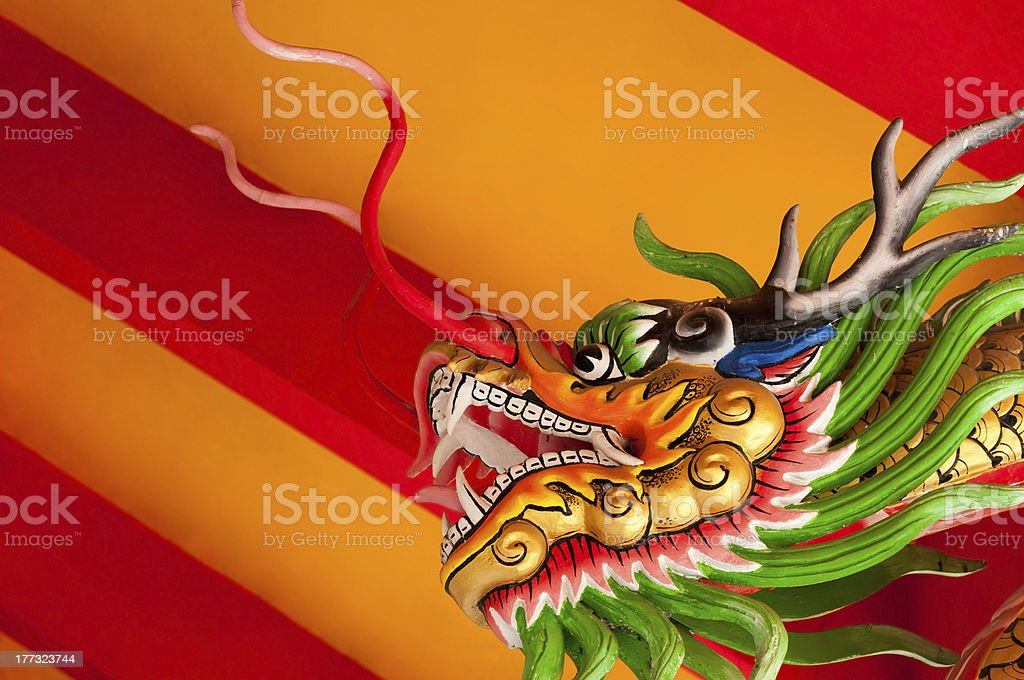 Chinese style dragon head royalty-free stock photo