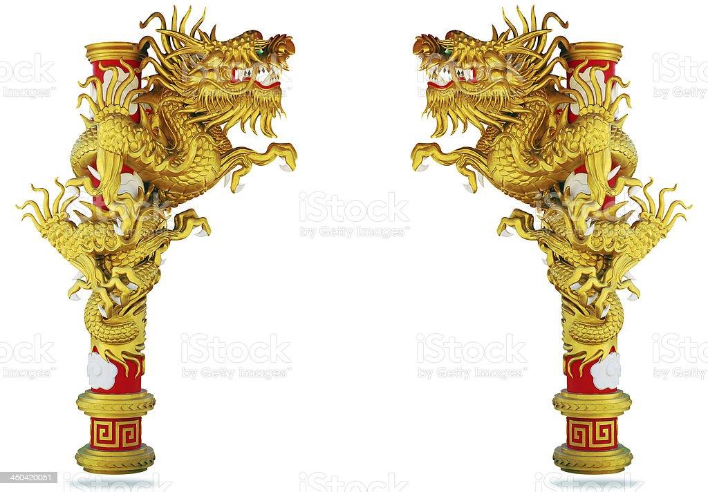 Chinese style dragon on white background royalty-free stock photo