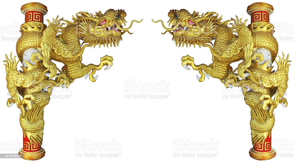 Chinese style dragon on white background royalty-free stock photo
