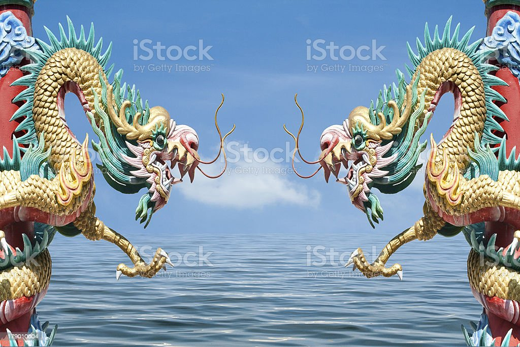 Chinese style dragon royalty-free stock photo