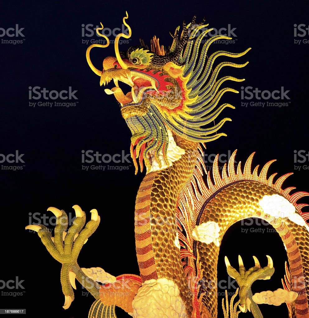 Chinese style dragon statue royalty-free stock photo