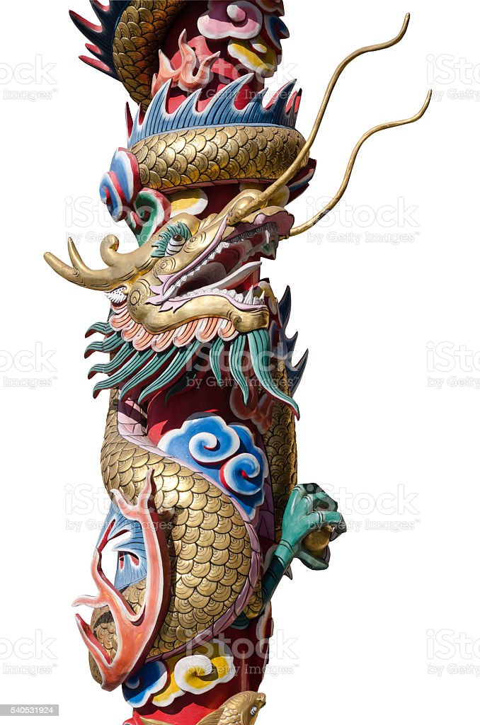 Chinese style dragon statue. stock photo