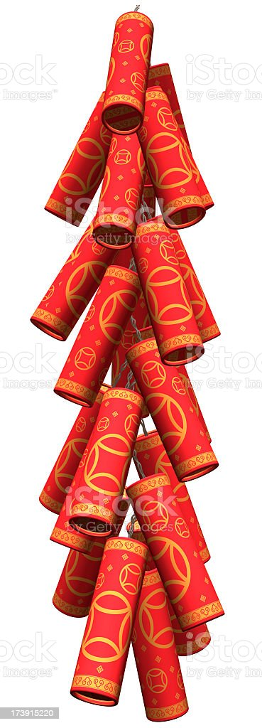 Chinese Style Firecrackers royalty-free stock photo