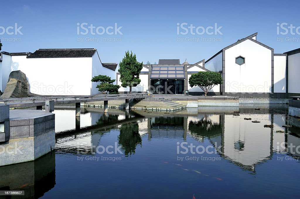 Chinese style garden stock photo