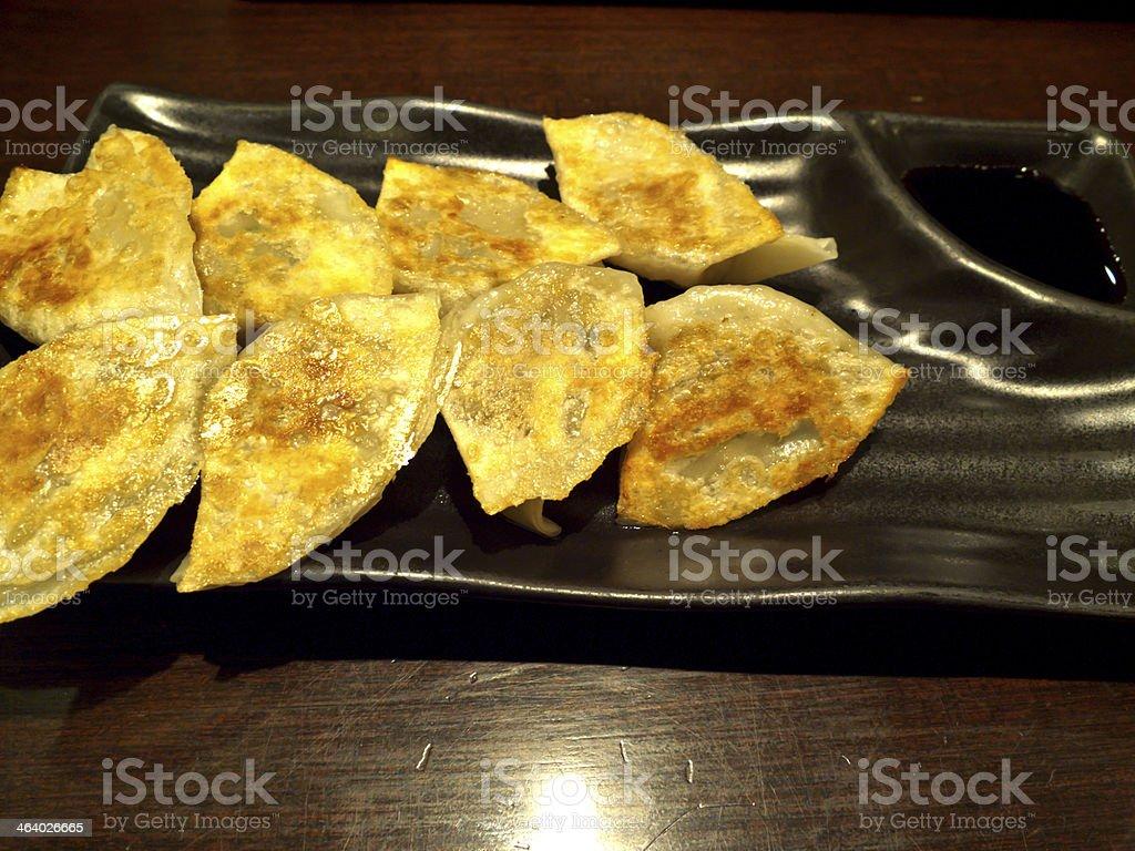chinese style gyoza in japanese food stock photo