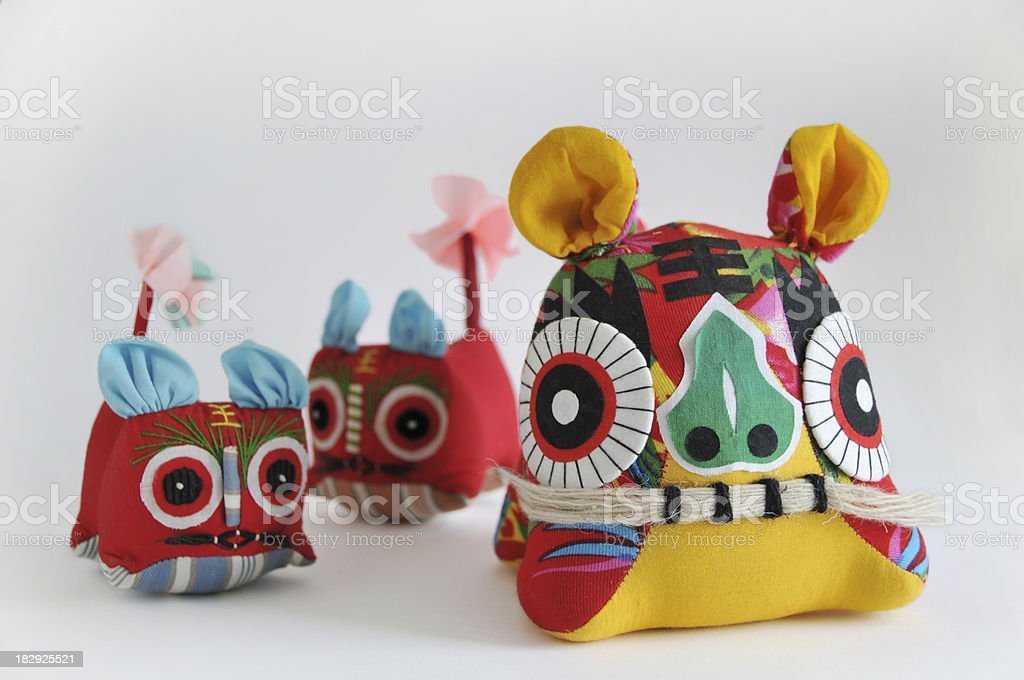 Chinese style of tiger royalty-free stock photo