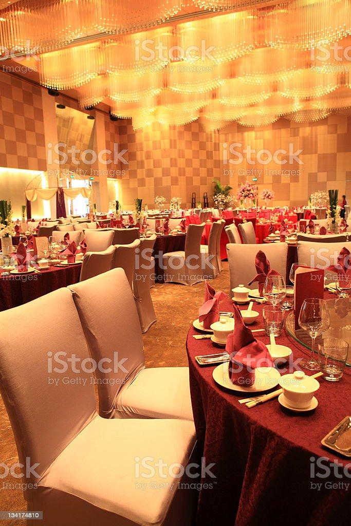 Chinese style wedding reception hall royalty-free stock photo